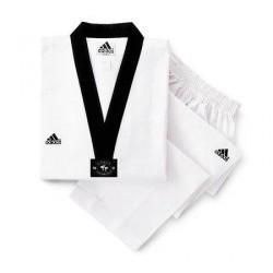 Taekwondo Anzug Adidas Adichamp schwarzes Revers