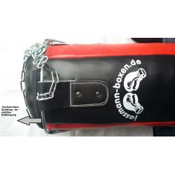 Jassmann Top Punching Bag mit Zubehör schwarz/rot