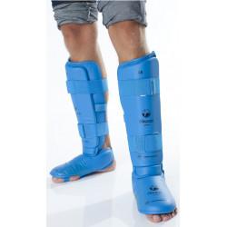 Karate-Schienbein-Fußschutz TOKAIDO blau, rot