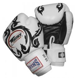 TWINS Kickboxhandschuhe W/B Flourish