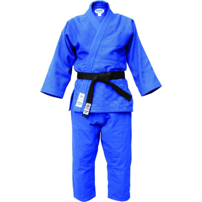 IJF Judoanzug Green Hill Olympic Judogi blau