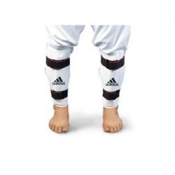 Taekwondo Adidas Schienbeinschutz PU weiss CE